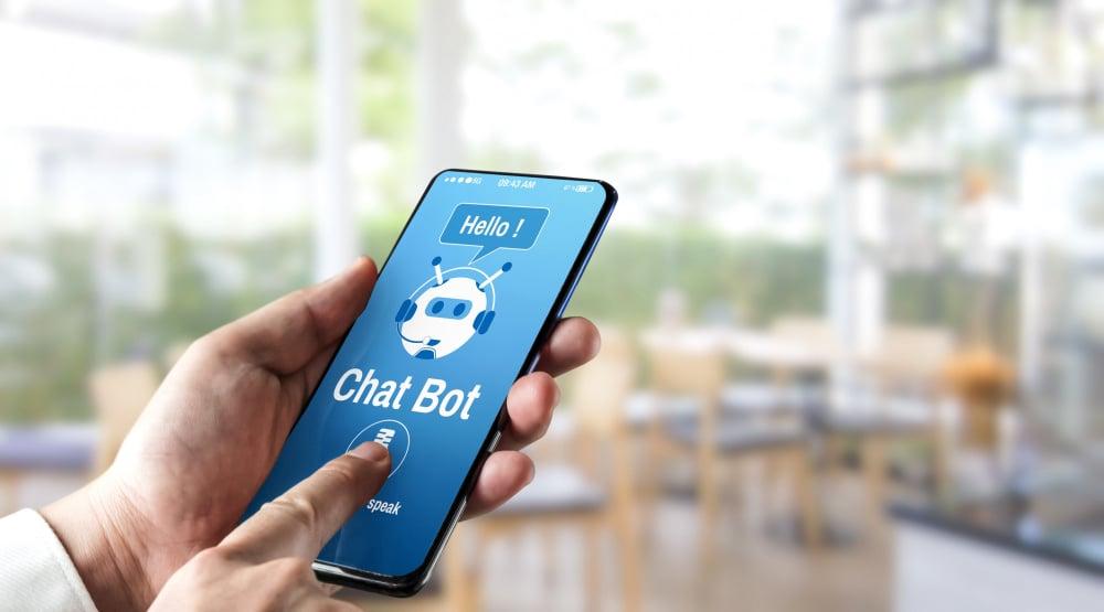 chatbot sur mobile